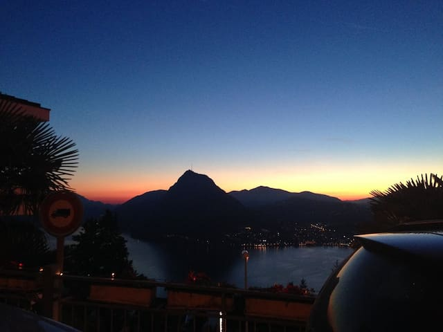 Cosy little studio in heart of Aldesago, 2 people - Lugano - Apartamento