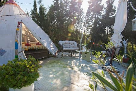 Campground with tent - TIPI 2 - Can Picafort