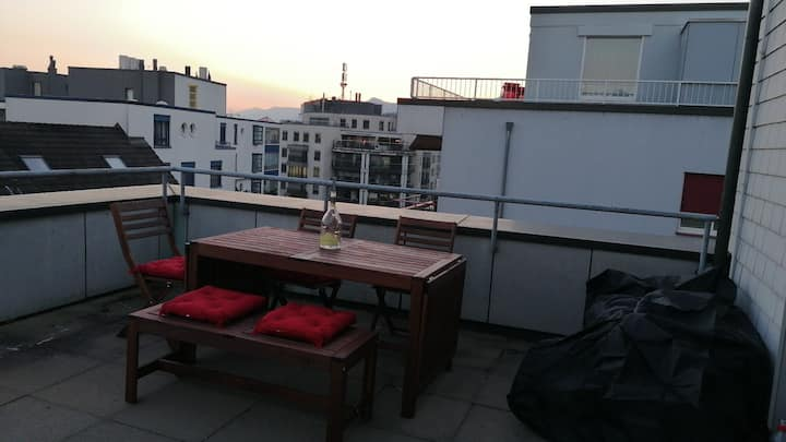 Cozy Rooftop in the heart of Olten