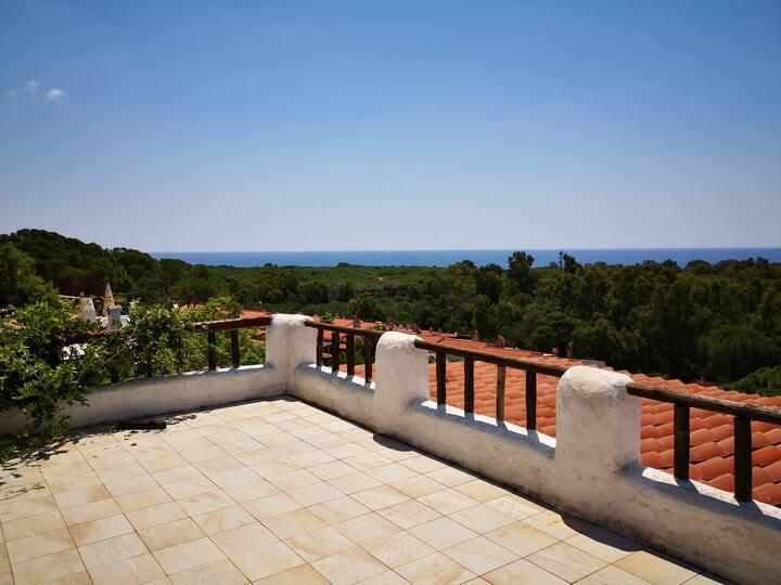 Casa Capo Blu A6 - 4 km Chia , vista mare, piscina
