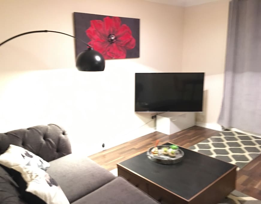 Living room, smart tv, internet, wifi