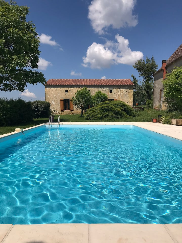 Gite fons with Heated pool