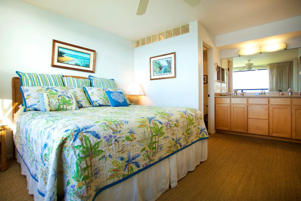 Spacious bedroom with enclosed Bath