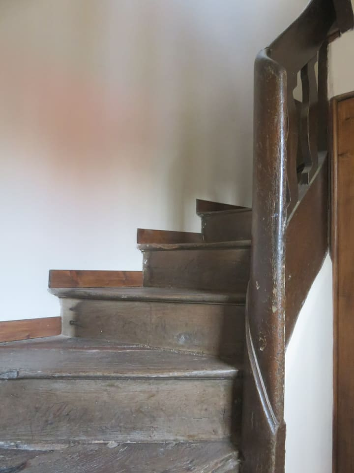 Old twisted oak staircase