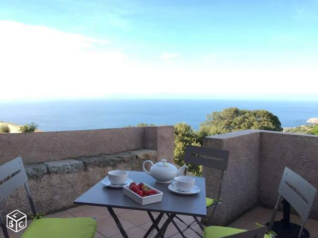 Maison 2 terrasses avec vue mer - Corbara - Huis