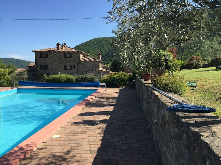 The Great Loggia house with pool sleeps 10.