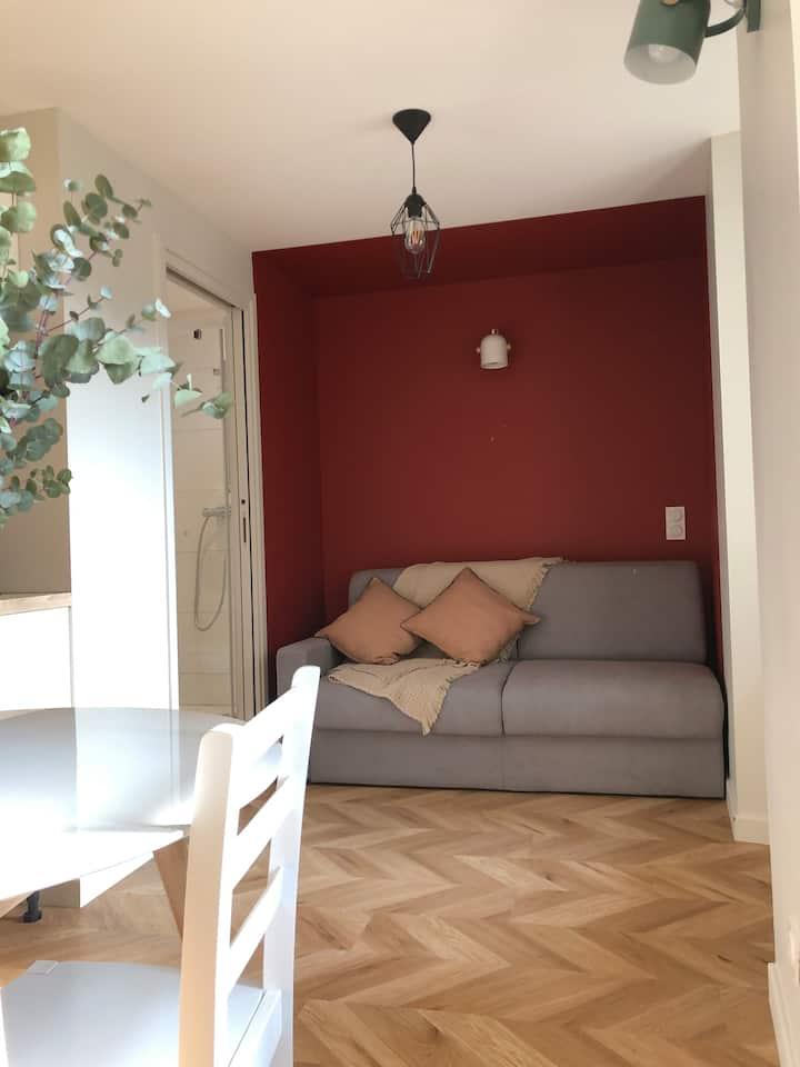 Agréable studio lumineux et confortable