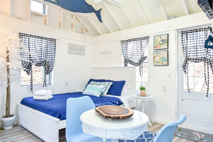 #410: Newly renovated, small studio cottage off of Minister's Pond! DOG FRIENDLY