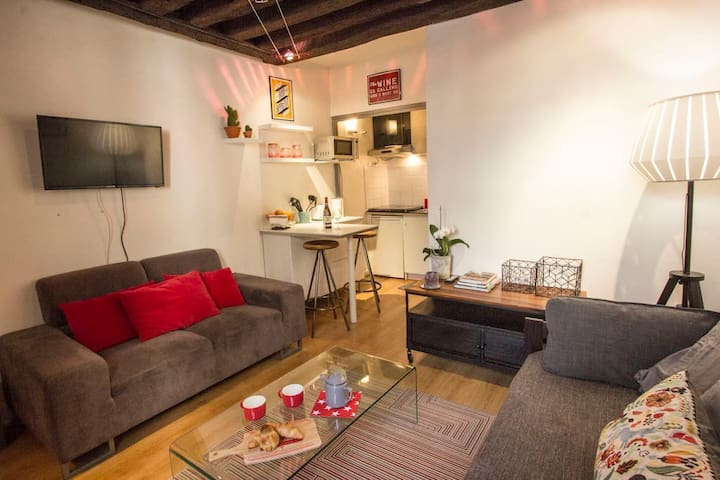 Studio de charme dans le Marais Paris