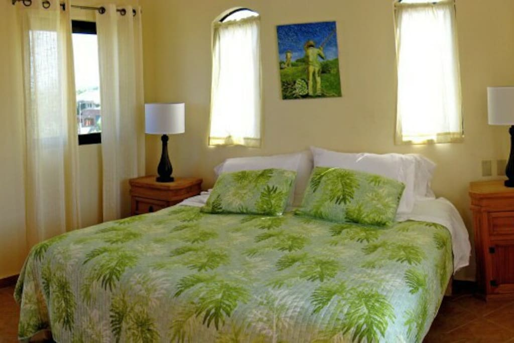 king bedroom with AC