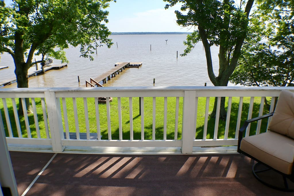 Stunning Rappahannock River view from the Balcony