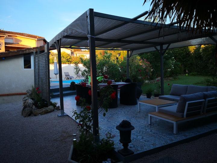 Belle maison avec piscine à 15' de Toulouse