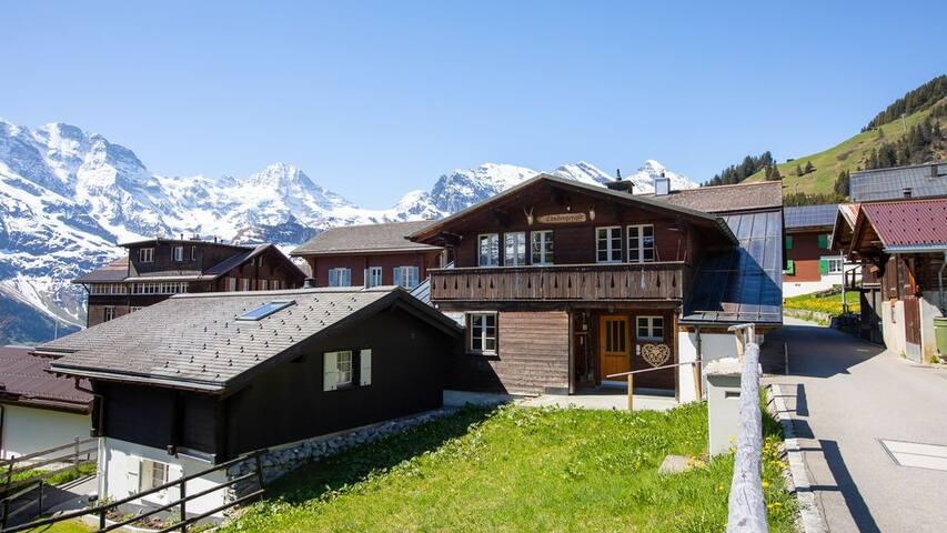 Alpenchic-Wohnung in Dorfmitte mit Bergbahnpass