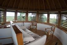 Le salon/chambre à 360°, version salon