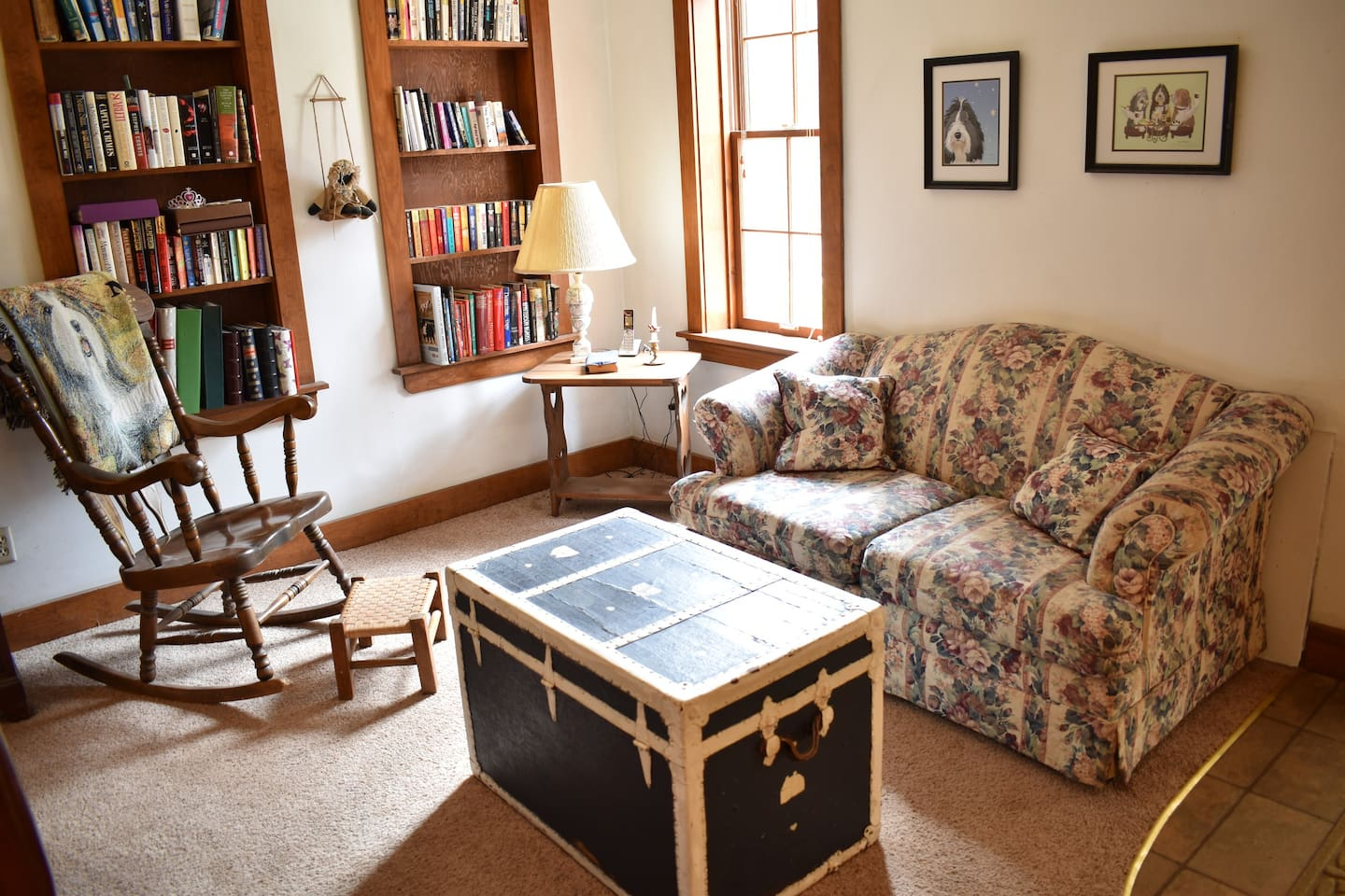 Sitting/reading area in 1st bedroom.
