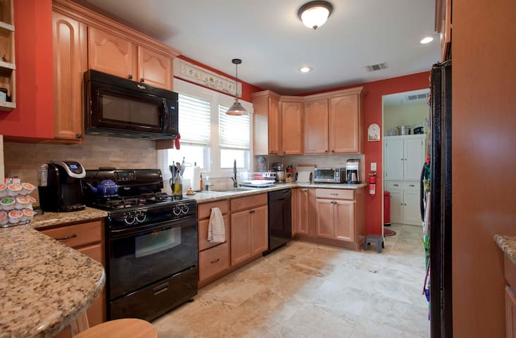 Kitchen available for cooking, coffee, use of the refrigerator