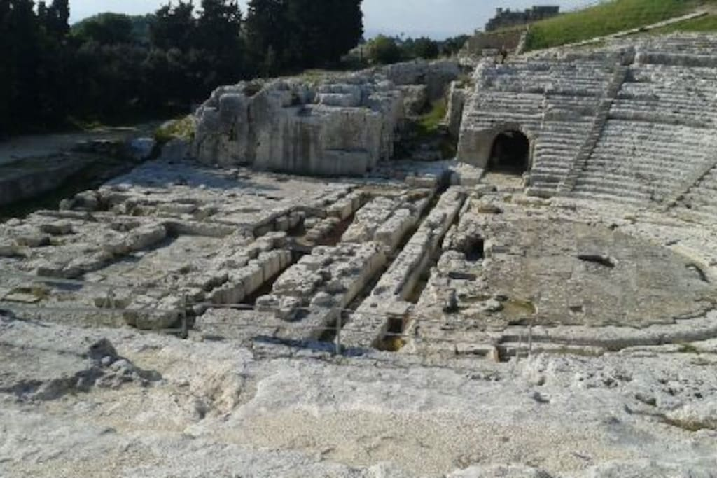 Teatro Greco Siracusa.Siracusa's Greek theatre