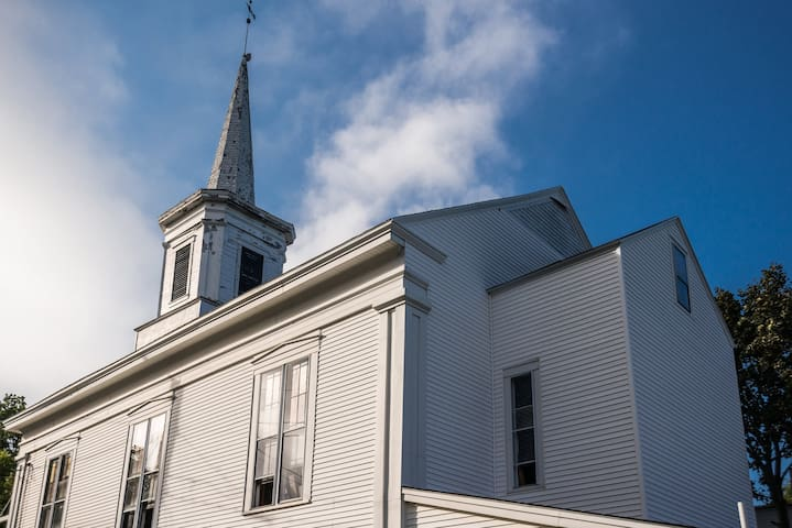 1850 Crooked Steeple Hall  in Quaint River Town