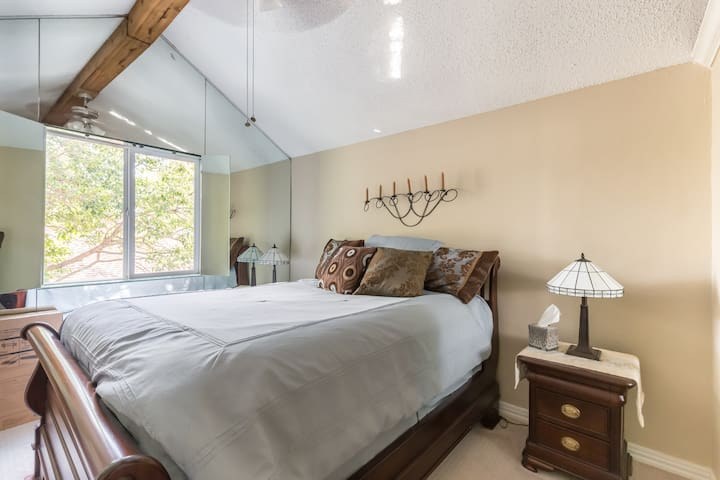 One of the bedrooms upstairs.