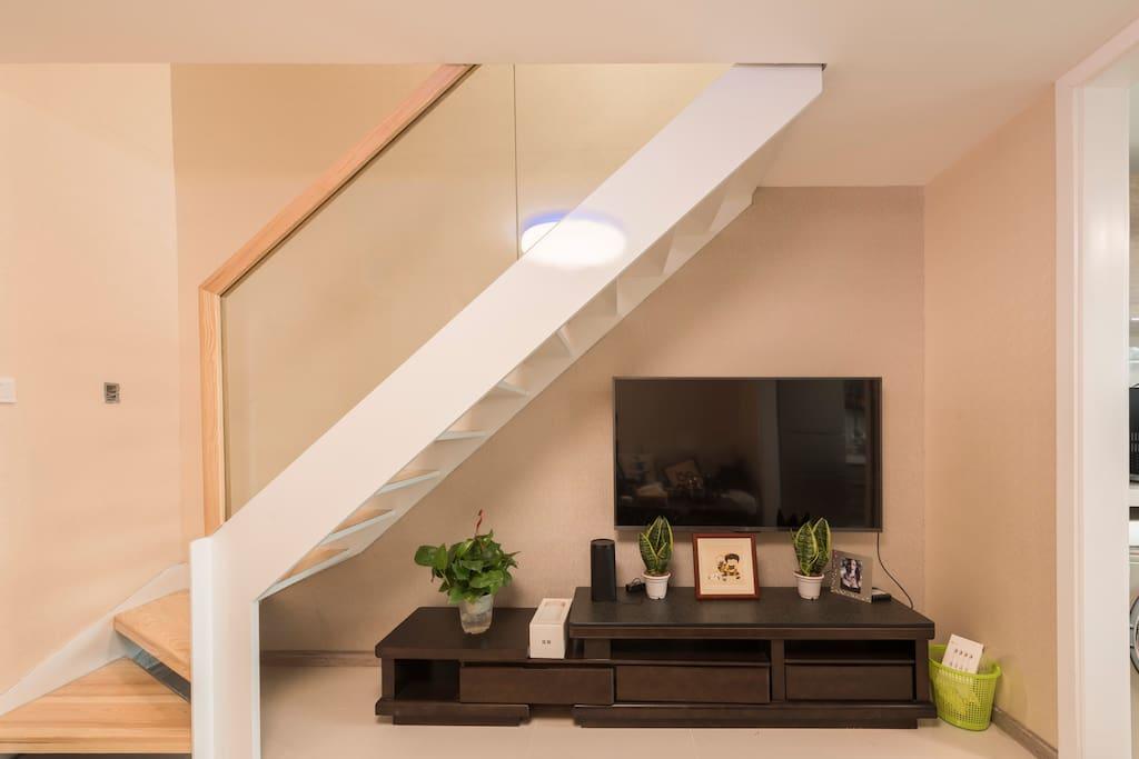 国标钢架构及钢化玻璃+55英寸小米智能电视