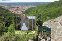 La Passerelle reliant Mazamet au petit village d'Hautpoul - Accès libre