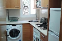 Our kitchen is small, but fully equipped and well-functioning.
