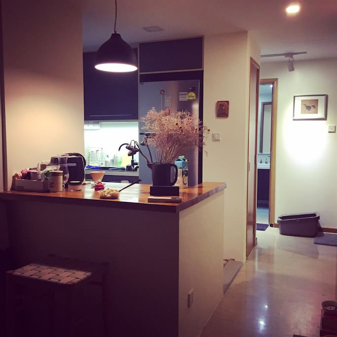 Fully furnished open kitchen