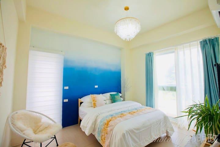 墾丁夢幻島-步拉諾 Burano Yellow Villa[標準雙人房] 附早餐  淋浴衛浴套房
