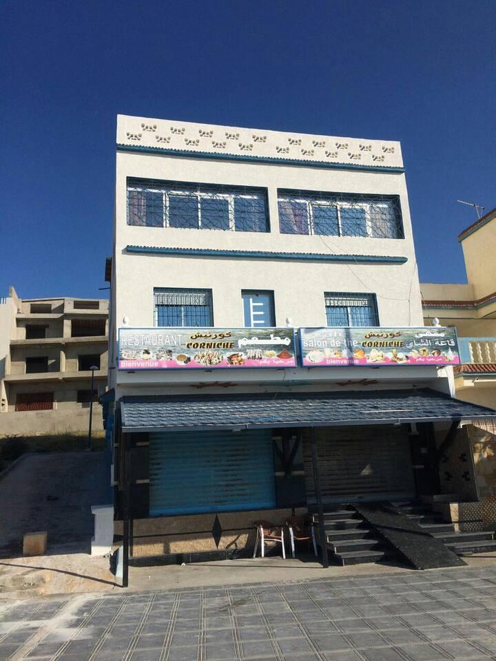 Corniche ksar sghir Mobil café restaurant chornich