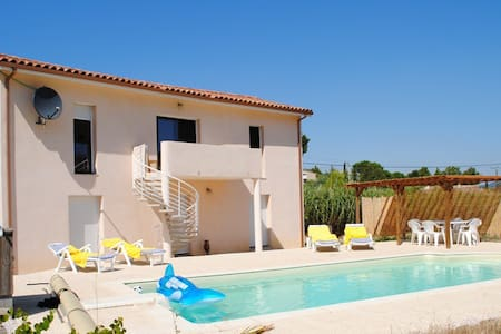 Modern, spacious Villa and pool - Embres et Castlemaure - Villa