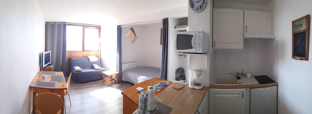 Studio Font Romeu plein sud - Font-Romeu-Odeillo-Via - Appartement en résidence