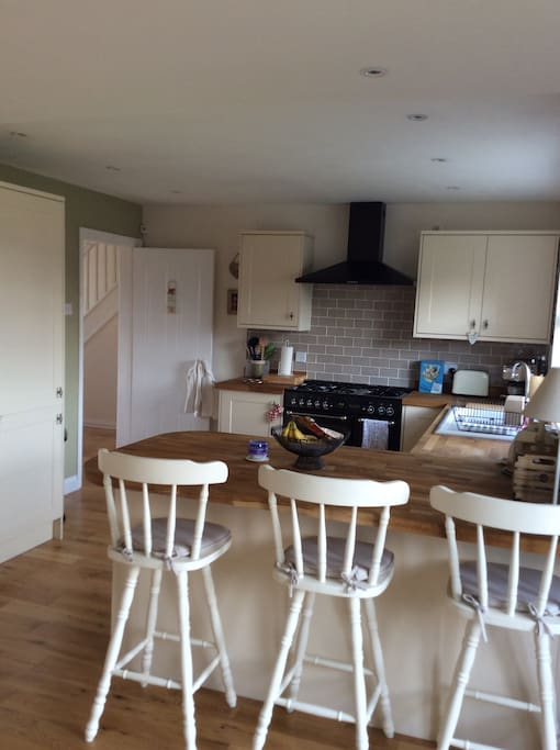 Recently extended and refurbished kitchen with range cooker and all appliances