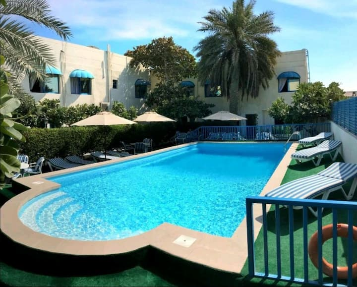 Comfortable room with beach view & swimming pool 2