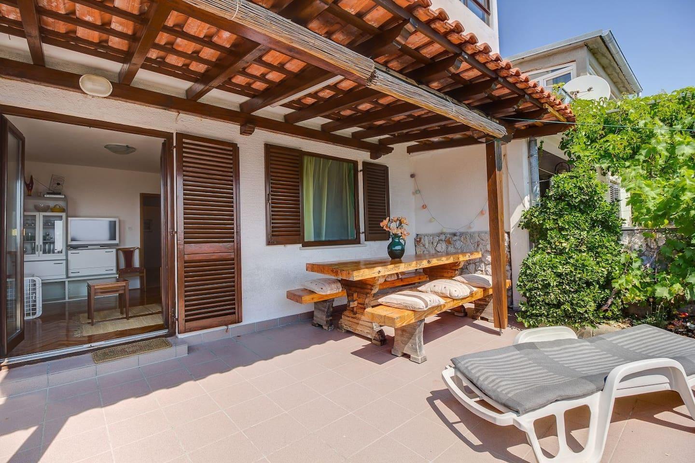 Two Bedroom Apartment, in Mali Losinj - island Losinj, Balcony