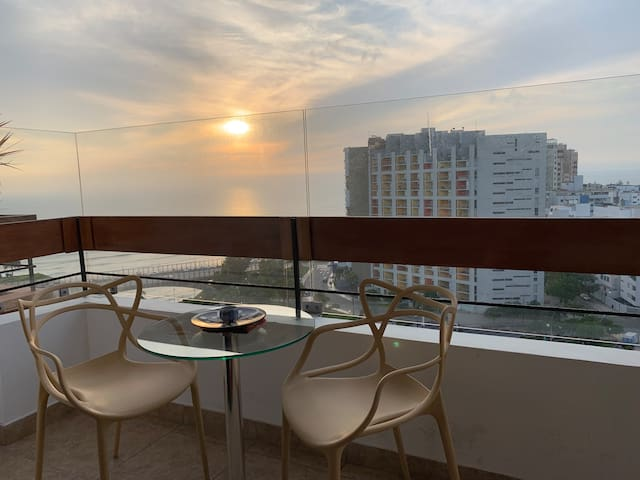Seaview apartment in the heart of Miraflores