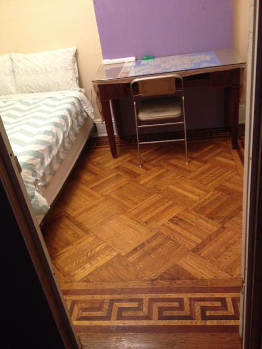 gorgeous original wood floors; over 100 years old!