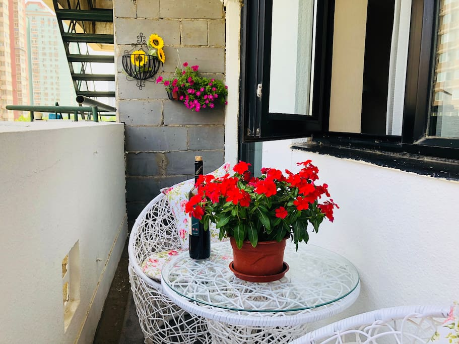 浪漫惬意的露天阳台