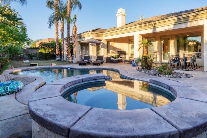 Mediterranean Villa Desert Oasis w/ Pvt Pool+Spa