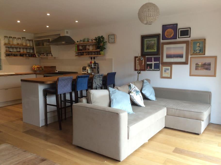 Main room - kitchen/living area