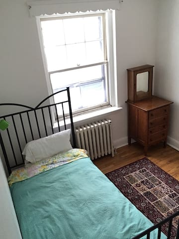 Snug & Pretty Room in Cool, Downtown Apartment
