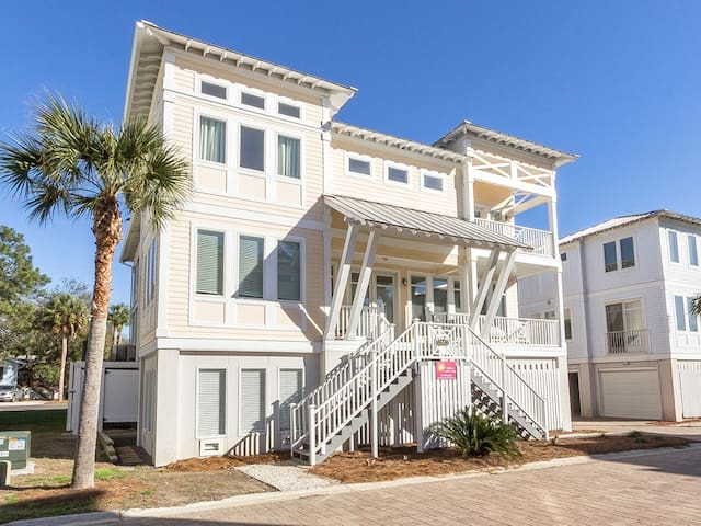 Large Townhome In Quiet Part of Tybee Island with Private Elevator, Grill, Outdoor Shower - All About Tybee