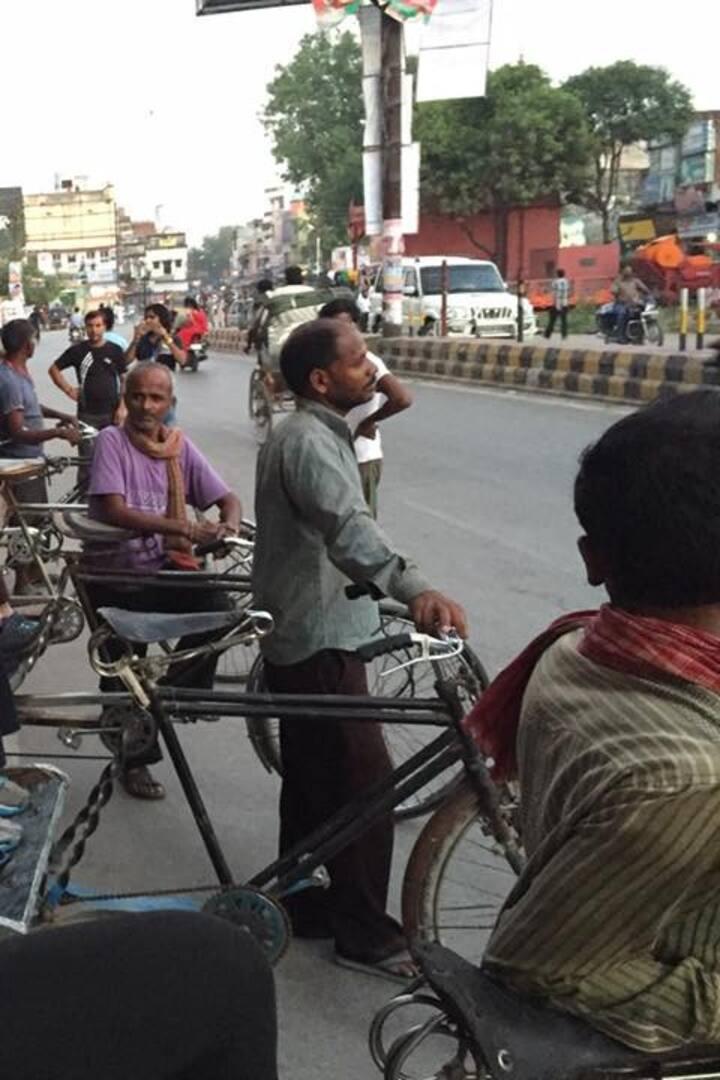 Rickshaw ride in Haridwar Main Bazar