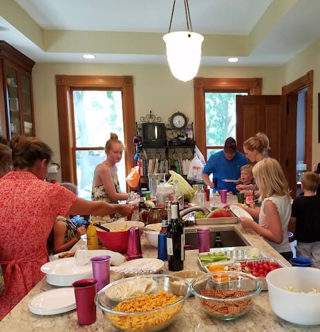 Party in the kitchen