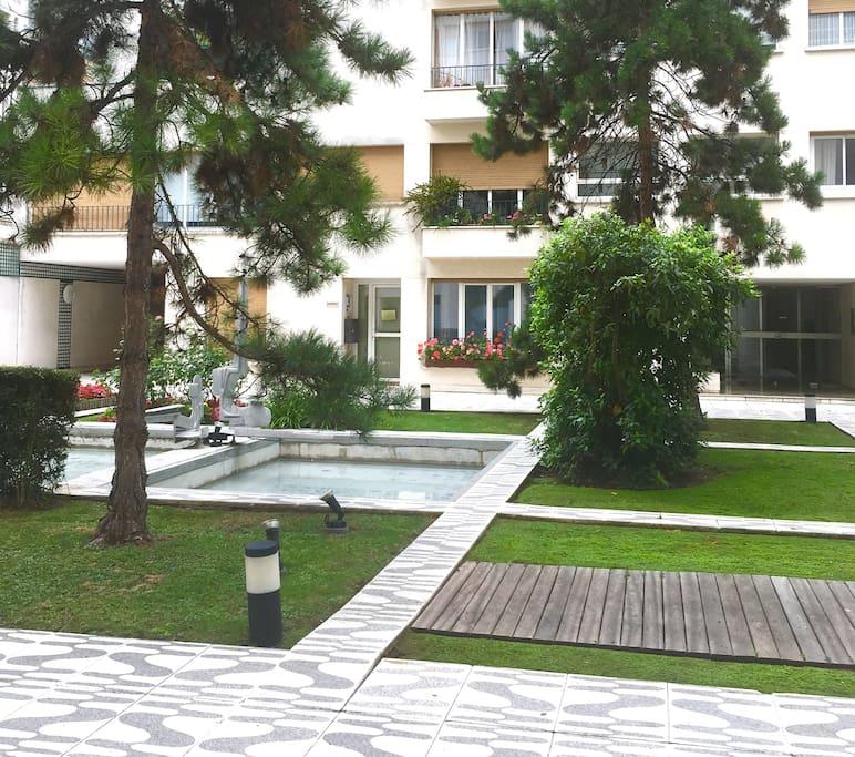 Inside garden of our nice residence