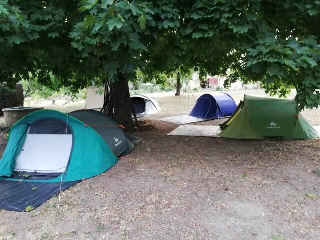 """""""NAMASTÉ2"""" tente de 1 à 3 pers. camping au vert"""