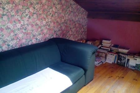 Chambre bleue + dépendances dans villa avec jardin - Lantriac