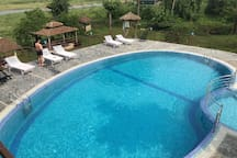Swimming Pool and deck area