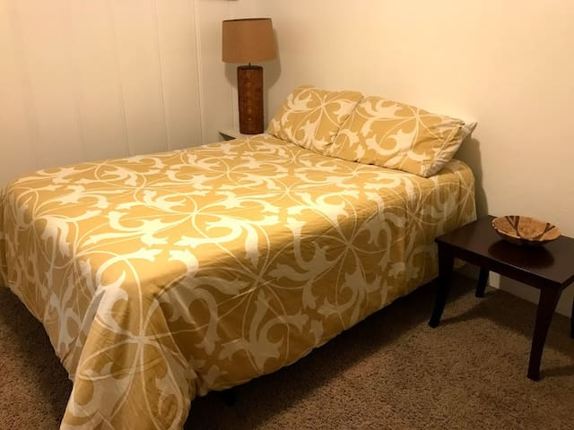 Your comfortable bed and room is all yours.