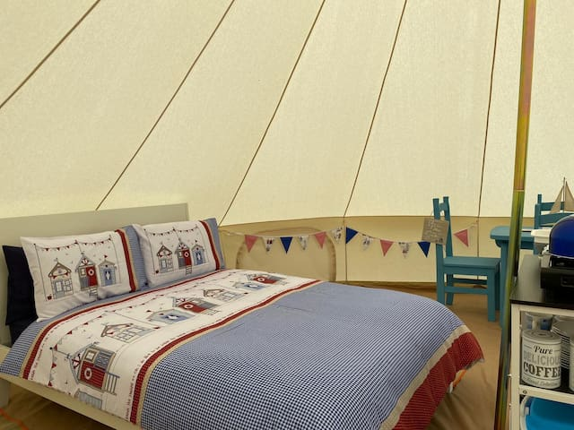 Beach Hut Bell Tent - Glamp @ The Priory