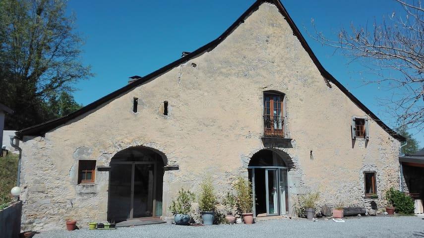 Charmant appartement dans maison du XVII siècle - Agnos - Casa